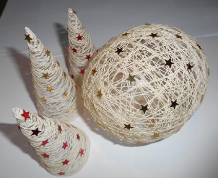 Decorazioni natalizie con filo e colla la fabbrica - Creare decorazioni natalizie ...
