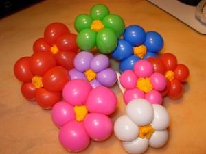 fiori con palloncini